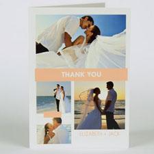 Custom Printed Carol Love Celebration Thank You Greeting Card