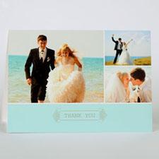 Custom Printed Swirl Thank You Greeting Card