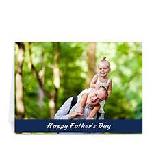 Custom Printed Happy Dad's Day, Classic Blue Greeting Card