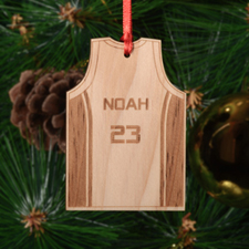 Personalized Basketball Wood Ornament