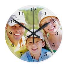 Large Numbers Personalized Acrylic Clock Custom Printed