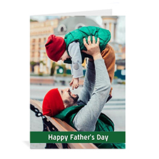 Custom Printed Father's Day, Classic Green Greeting Card