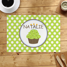 Personalized Boy Cupcake Placemats