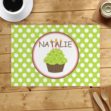 Personalized Girl Cupcake Placemats