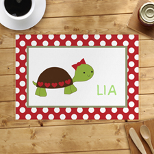 Personalized Bow Tortoise Placemats
