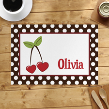 Personalized Cherry Placemats