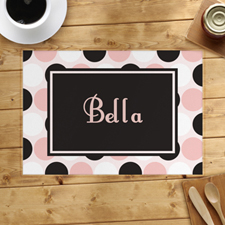 Personalized Polka Dot Placemats