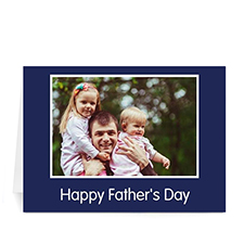 Custom Printed I Love Daddy, Classic Blue Greeting Card