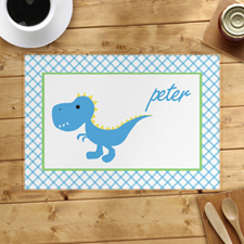 Personalized Blue Dinosaur Placemats