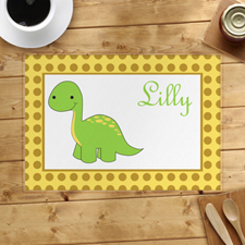 Personalized Green Dinosaur Placemats