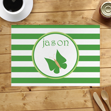 Personalized Stripe Butterfly Placemats
