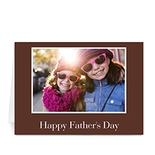 Custom Printed Brown I Love Daddy Greeting Card