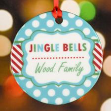 Jingle Bell Personalized Ceramic Ornament