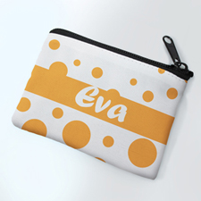 Yellow Dots Personalized Coin Purse
