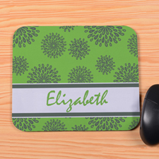 Personalized Lime Pattern Mouse Pad