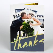 Custom Printed Joyous Thanks Greeting Card