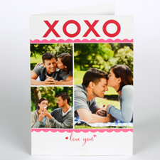 Custom Printed Love You Greeting Card