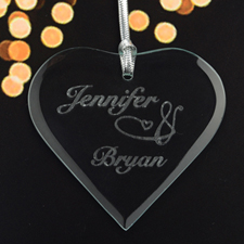 Personalized Engraved I Love You Heart Shaped Ornament