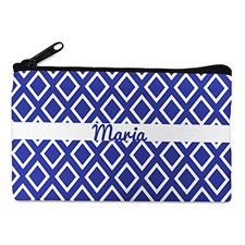 Navy Diamond 4X7 Personalized Cosmetic Bag