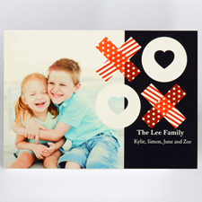 Share The Love Personalized Photo Valentine Card, 5X7 Flat