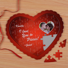 My Heart Personalized Heart Shape Puzzle