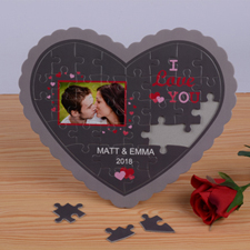 Sweet Love Personalized Heart Shape Puzzle