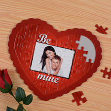 Be Mine Personalized Heart Shape Puzzle