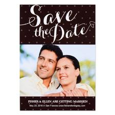 Pristine Heart Personalized Save the Date