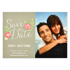 Graceful Beginning Personalized Save the Date