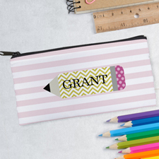 Design Your Own Pink Pencil Pencil Case