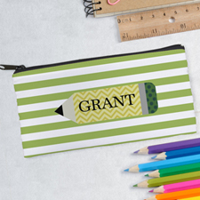 Design Your Own Green Pencil Pencil Case