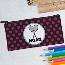 Design Your Own Tennis Polka Dots Pencil Case
