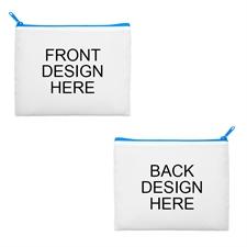 8x10 2-Side Different Images Blue Zipper