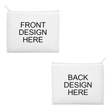 8x10 2-Side Different Images white Zipper