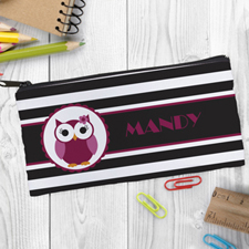Design Your Own Owl Girl Pencil Case