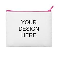 Custom Full Color Print 9.5x13 (2 Side Same Image) - Hot Pink Zipper