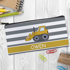Design Your Own Bulldozer Pencil Case