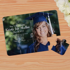 Personalized Graduation Puzzle Invite