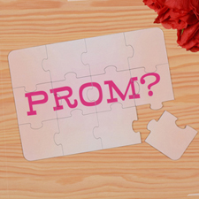 Personalized Prom Puzzle Invite