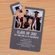 Personalized Graduation Class Puzzle Invite
