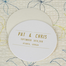 Celebration Round Personalized Coasters