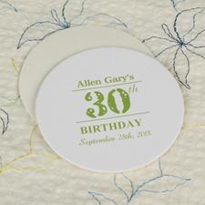 Birthday Celebration Round Personalized Coasters