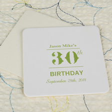 Birthday Celebration Square (Set Of 12) Personalized Coasters