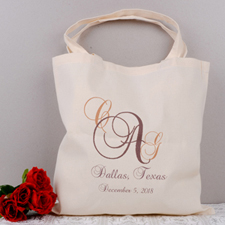 Personalized Monogrammed & Location Tote Bag