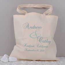 Personalized Names & Dates Tote Bag