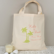 Personalized Palm Tree Tote Bag