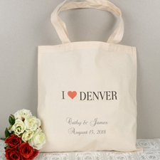 Personalized Names & City Tote Bag