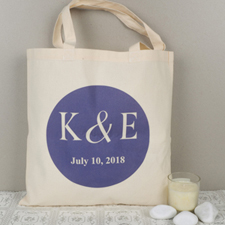 Personalized Initials & Date Tote Bag