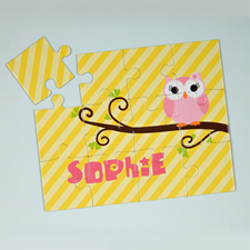 Lemon Owl Personalized Kids Puzzle
