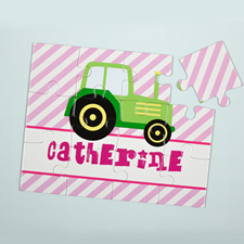 Lime Truck Personalized Kids Puzzle